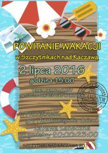 plakat szczytniki powitanie wakacji