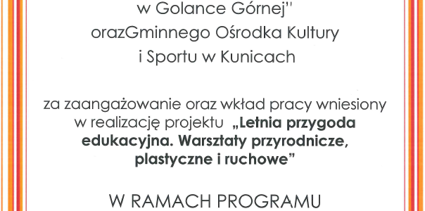 """Podsumowanie """"Działaj Lokalnie 2018"""""""