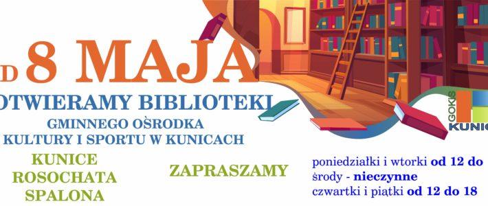 Od 8 maja otwieramy nasze biblioteki