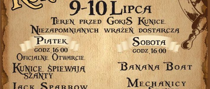 XXX Ogólnopolski Festiwal Piosenki Żeglarskiej Szanty Kunice